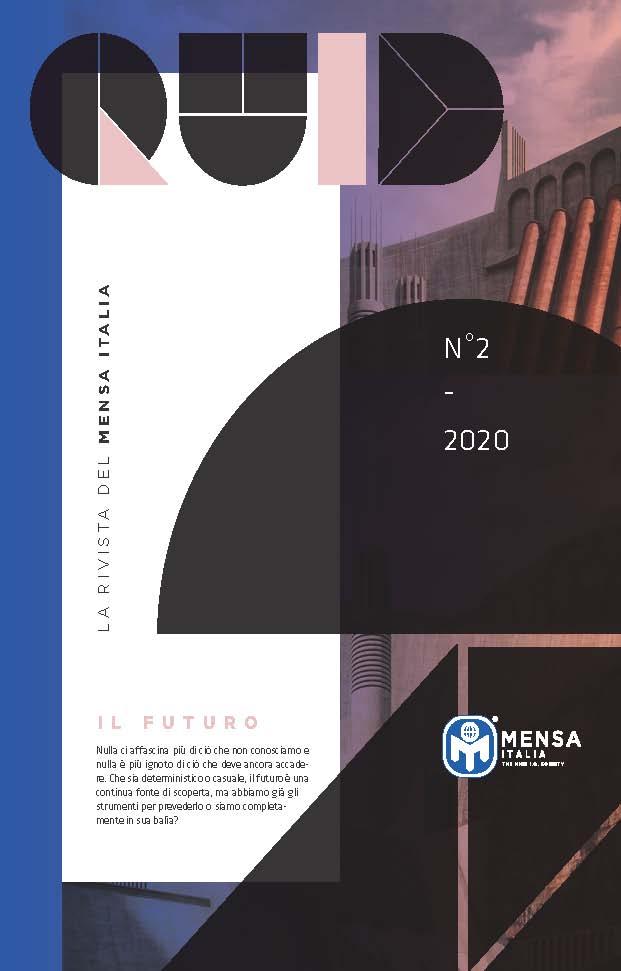 """""""IL PENSIERO LENTO DELLA MACCHINA"""" (articolo su Quid – numero 2 – Aprile 2020)"""